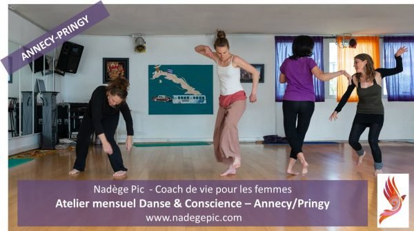 ATELIER mensuel Danse & Conscience - ANNECY/PRINGY