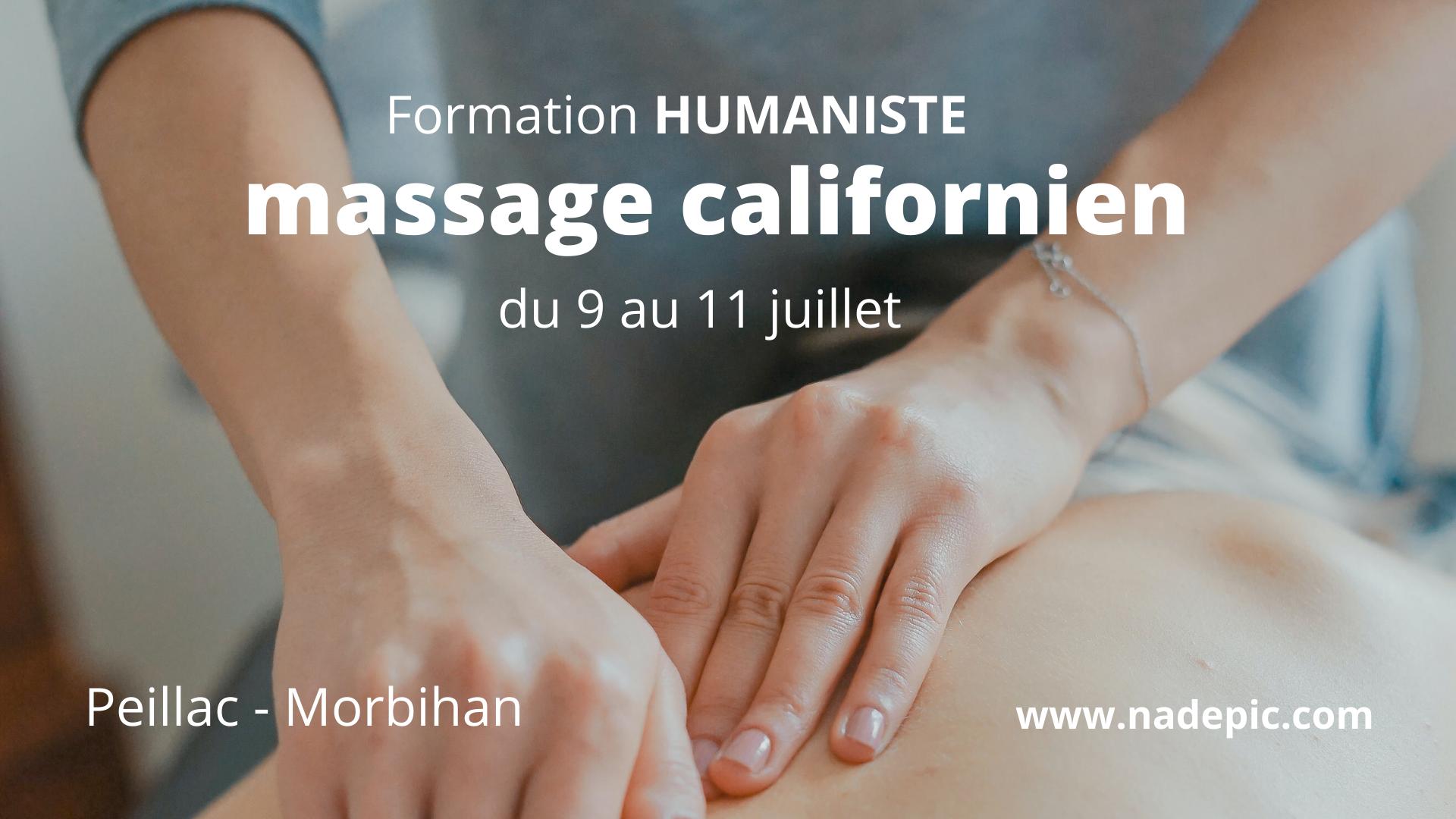Formation massage bien-être humaniste californien – Morbihan